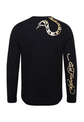 TIGER-GIANT CREW NECK SWEATSHIRT - BLACK - Ed Hardy Official
