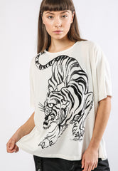 TIGER-GIANT OVERSIZE TOP - WHITE - TIGER PACK