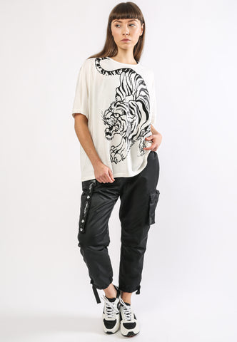 TIGER-GIANT OVERSIZE TOP - WHITE - Image 2