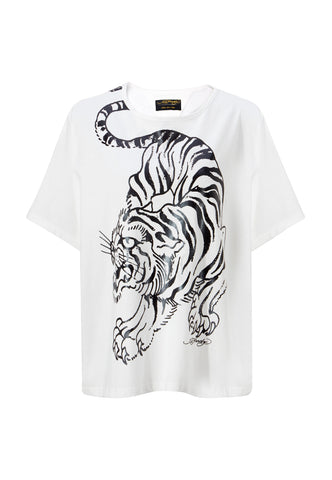 TIGER-GIANT OVERSIZE TOP - WHITE