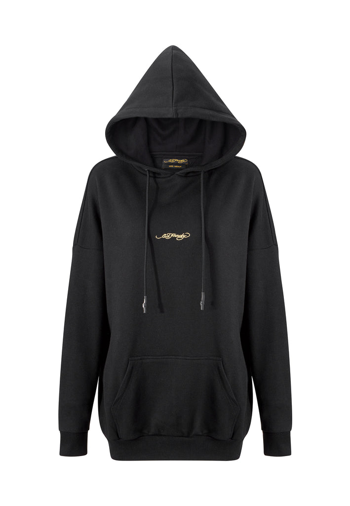 TIGER-GIANT POUCH HOODY - BLACK - Ed Hardy Official