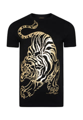 TIGER-GIANT T-SHIRT - BLACK - Ed Hardy Official