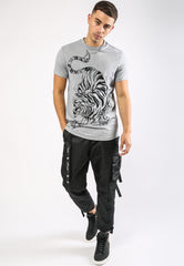 TIGER-GIANT T-SHIRT - GREY MARL - TIGER PACK