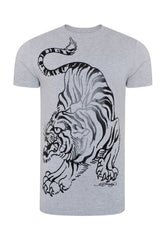 TIGER-GIANT T-SHIRT - GREY MARL - Ed Hardy Official