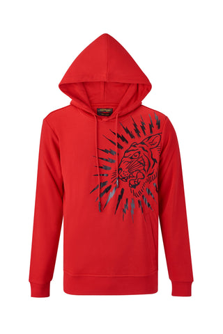 TIGER-LIGHTNING HOODY RED