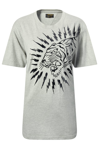 TIGER-LIGHTNING T-SHIRT GREY WOMENS
