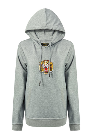 TIGER-LOS HOODY (WOMENS) - GREY