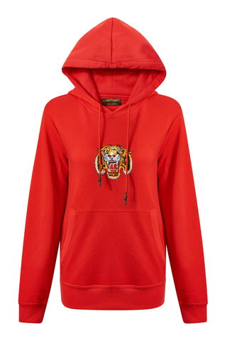 TIGER-LOS HOODY RED WOMENS