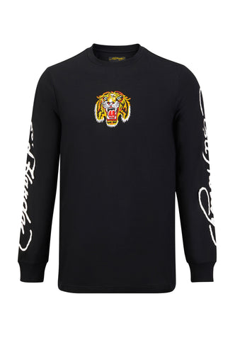TIGER LOS LONG SLEEVE T-SHIRT - BLACK