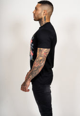 TIGER LOS T-SHIRT - BLACK - Ed Hardy Official