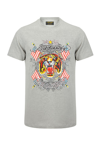 TIGER LOS T-SHIRT - GREY