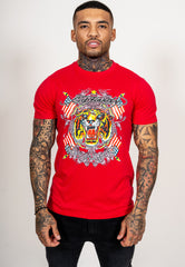 TIGER-LOS T-SHIRT - RED - Ed Hardy Official