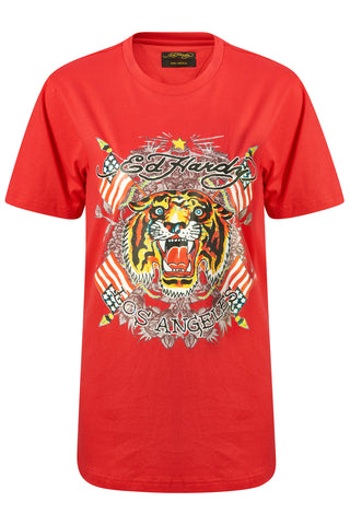 TIGER-LOS T-SHIRT RED WOMENS