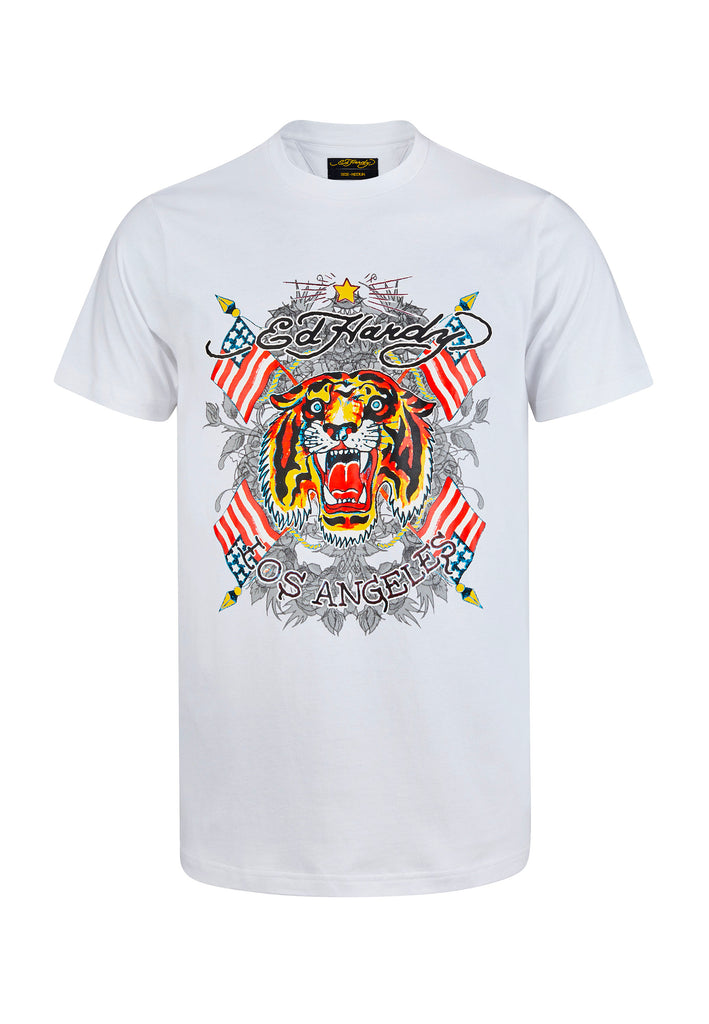 TIGER-LOS T-SHIRT - WHITE - Ed Hardy Official