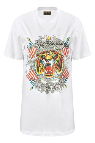 TIGER-LOS T-SHIRT (WOMENS) - WHITE
