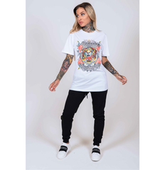 TIGER-LOS T-SHIRT (WOMENS) - WHITE - Ed Hardy Official