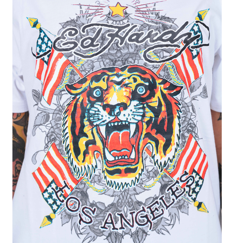 TIGER-LOS T-SHIRT (WOMENS) - WHITE - Image 2
