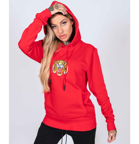 TIGER-LOS HOODY (WOMENS) - RED - Image 2