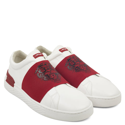 TIGER LOW TOP-WHITE/RED