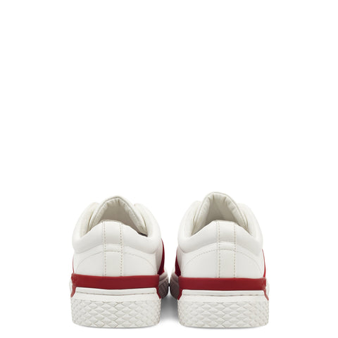 TIGER LOW TOP-WHITE/RED - Image 2