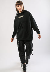 TIGER-MOUNTAIN POUCH HOODY - BLACK