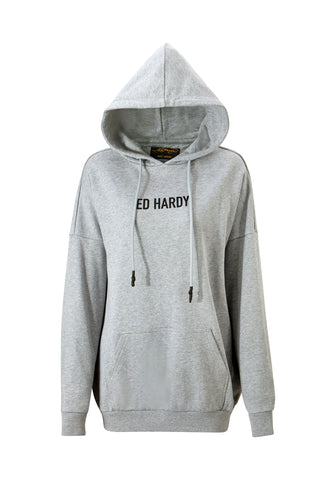TIGER-MOUNTAIN POUCH HOODY - GREY