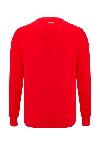 TIGER STRIPE CREW SWEAT - RED - Image 2