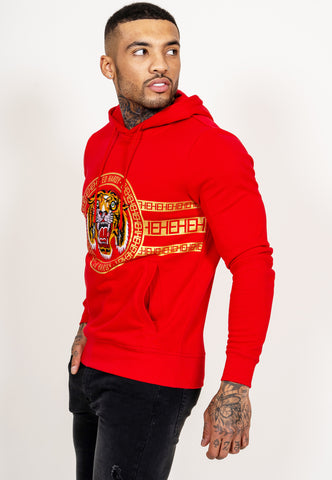 TIGER STRIPE HOODY-RED - Image 2