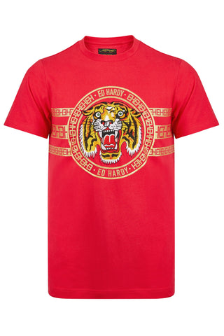 TIGER STRIPE T-SHIRT - RED