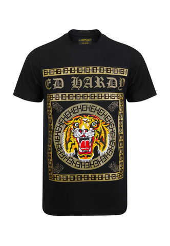 TIGER TILE T-SHIRT - BLACK