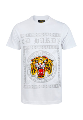 TIGER TILE T-SHIRT - WHITE