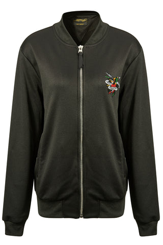 TILL-DEATH BOMBER TRACKTOP (WOMENS) - BLACK