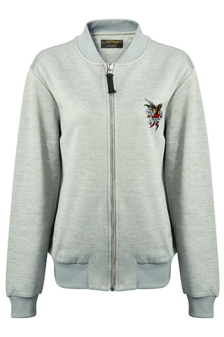 TILL-DEATH BOMBER TRACKTOP GREY WOMENS
