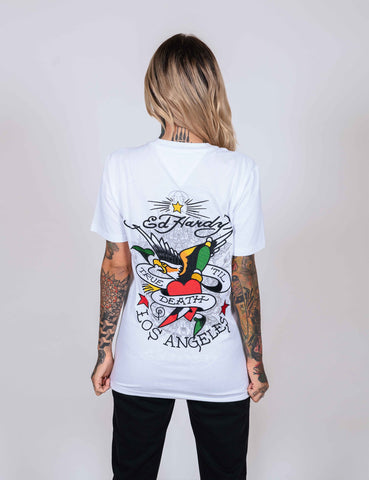 TILL-DEATH T-SHIRT (WOMENS) - WHITE - Image 2