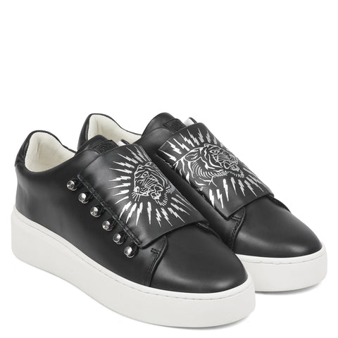 UNDERCOVER LOW TOP-SPARK-BLACK/WHITE