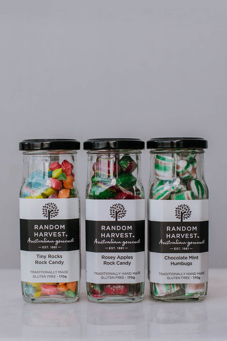 Rock Candy tiny rocks rose apples chocolate mint
