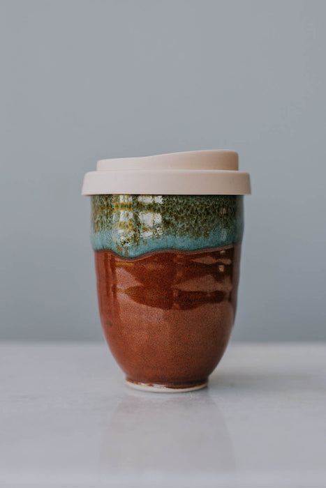 Travel Mug Pottery for the Planet browns