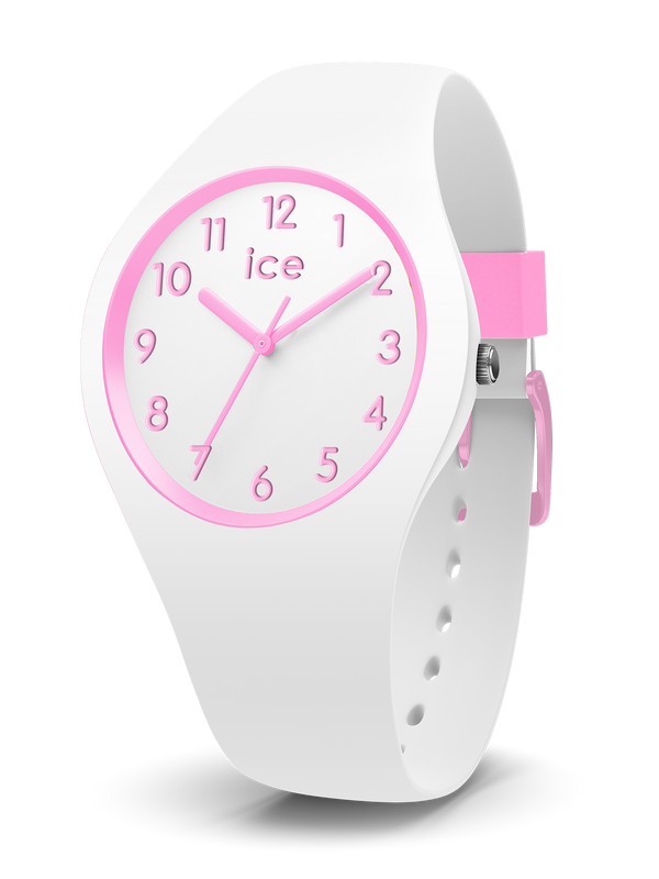 ICE WATCH Ola Kids Collection Pink Case 34mm (S) White Dial White Strap
