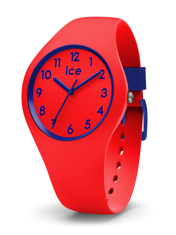 ICE WATCH Ola Kids Collection Blue Case 34mm (S) Red Dial Red Strap