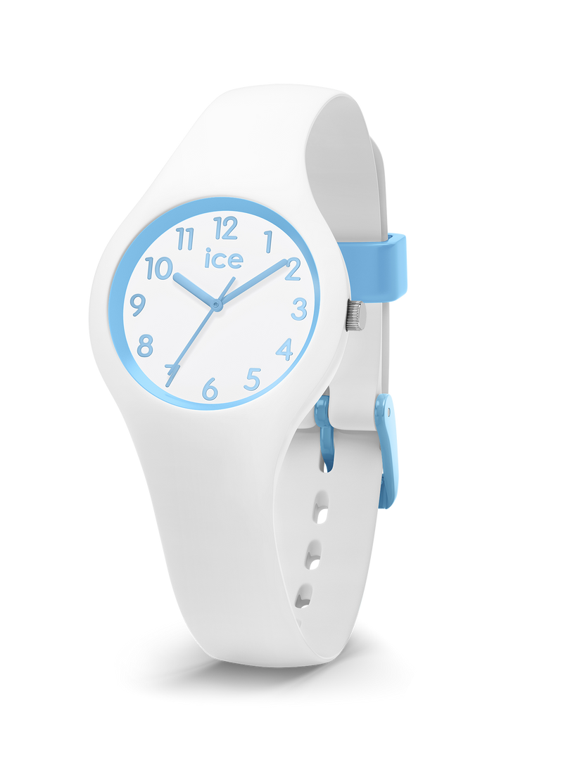 ICE WATCH Ola Kids Collection Blue Case 28mm (XS) White Dial White Strap