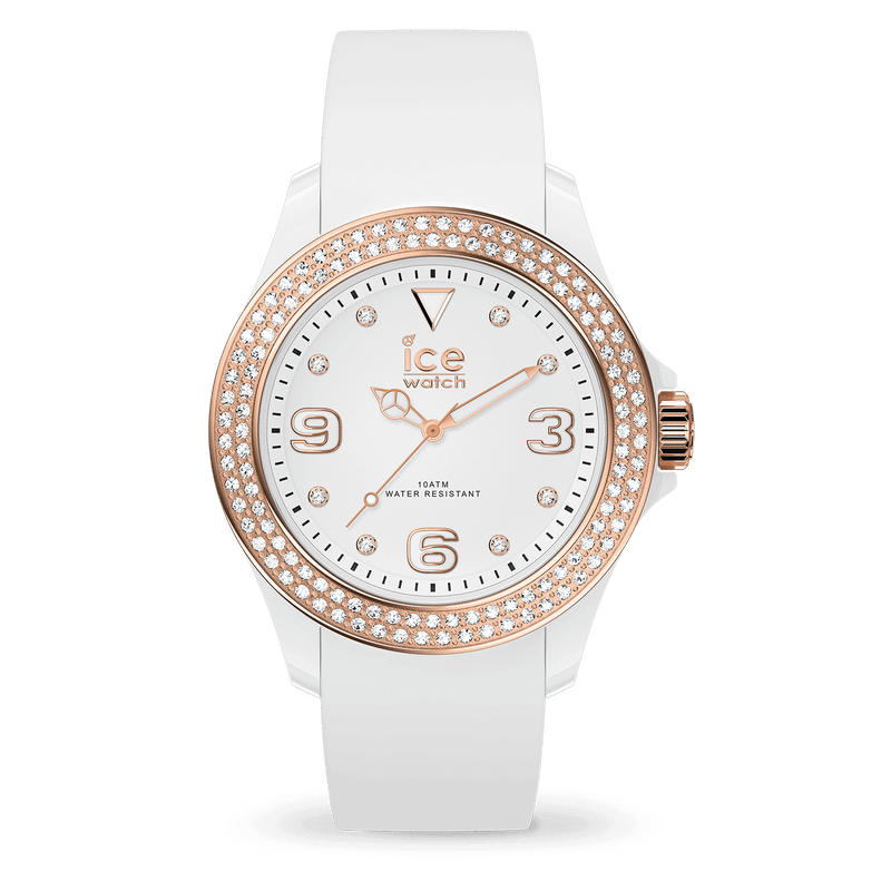 ICE WATCH Star White Rosegold Smooth Small 3H