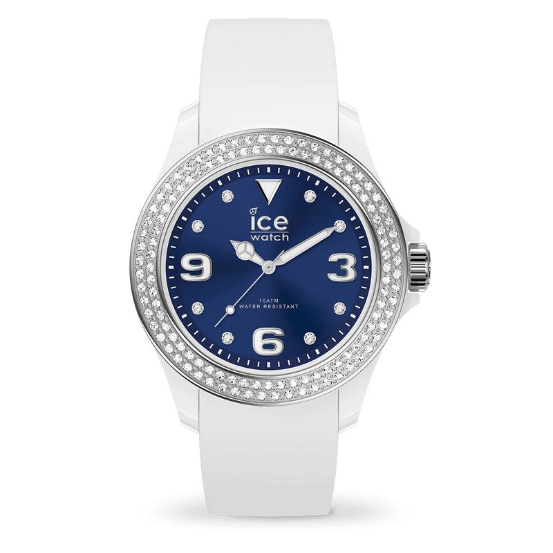 ICE WATCH Star White Deep Blue Smooth Small 3H