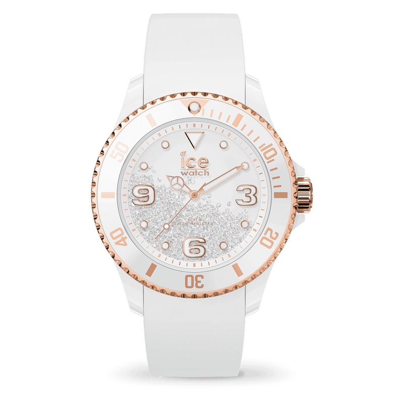 ICE WATCH Crystal White Rosegold Smooth Medium 3H