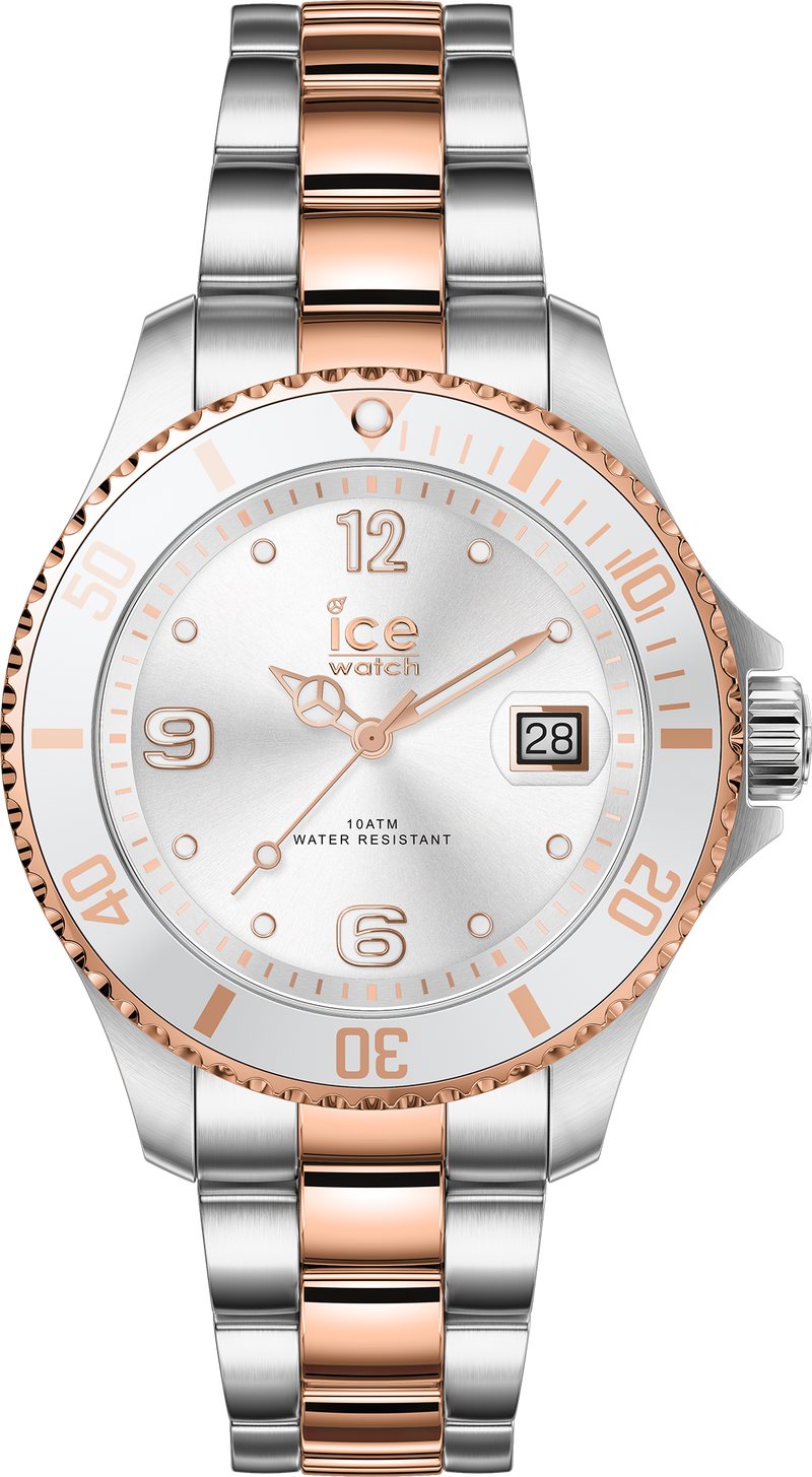 ICE WATCH Steel Silver Rosegold Small 3H