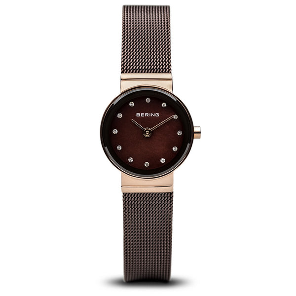 Bering Classic Polished Rose Gold Swarovski Watch