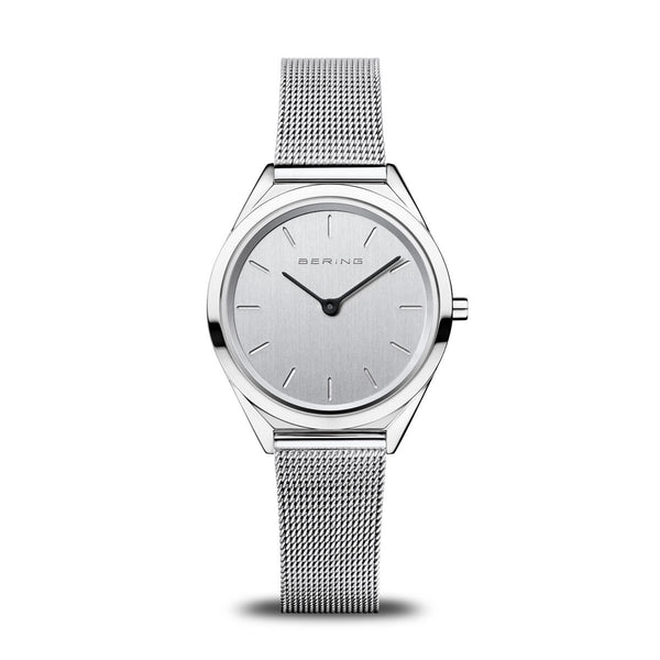 Bering Ultra Slim Polished Silver Watch