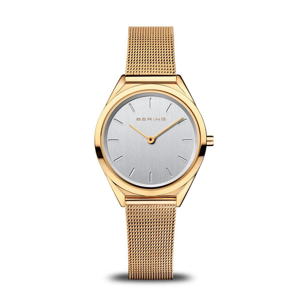 Bering Ultra Slim Polished Gold Watch