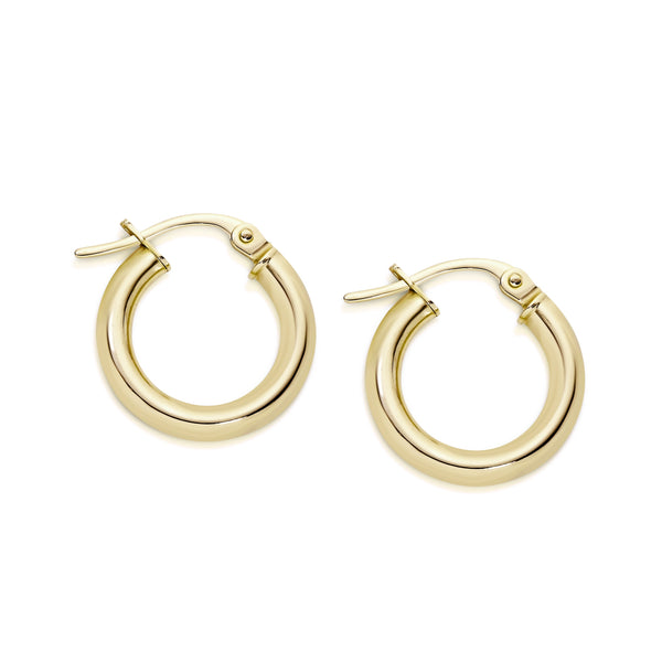 9Ct Gold 10Mm Hoop Earrings