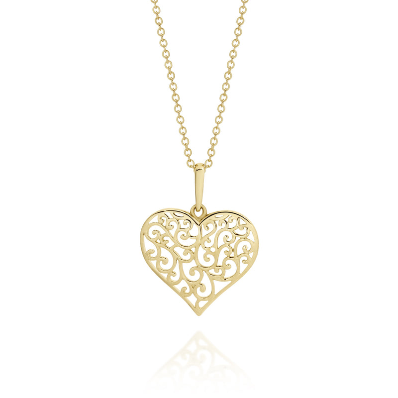 9Ct Gold Filigree Pendant