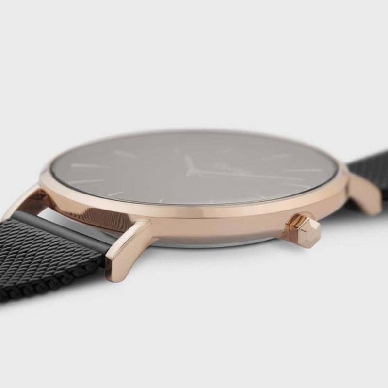 CLUSE La Boheme Mesh Rose Gold Black/Black Ladies Watch